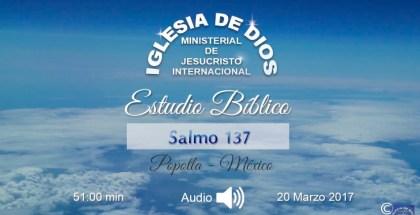 Estudio Bíblico (en audio) México, Popotla, 20 de Marzo de 2017