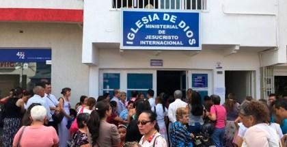 Fotos del traslado de la Iglesia en Melgar, Tolima (Colombia)