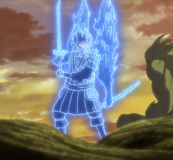 Madara Uhciha Full Perfect Susanoo warna biru
