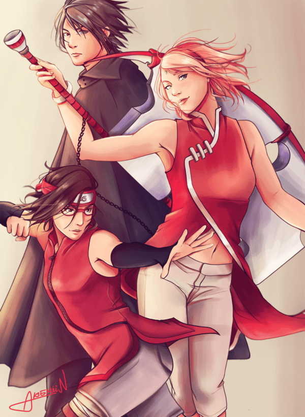 Sarada uchiha and akemiin