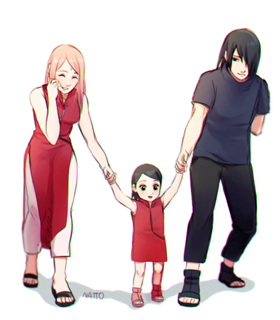 Sarada learfn to walk by nattouh