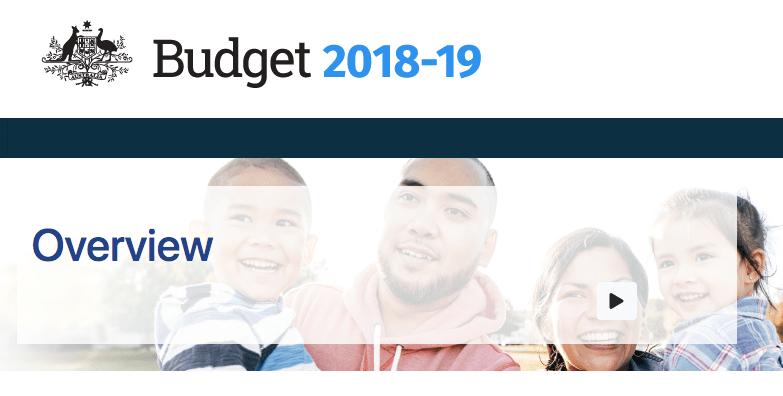 2018/19 澳洲聯邦預算案