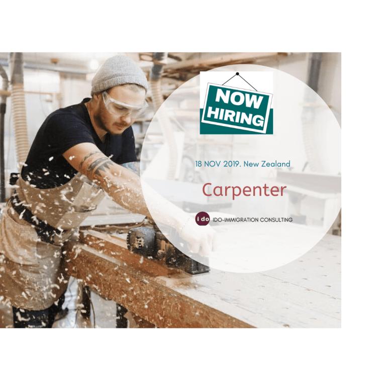 【紐西蘭招聘】木匠 Carpenter