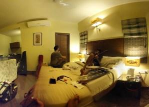 Pre gig preps in Bangalore