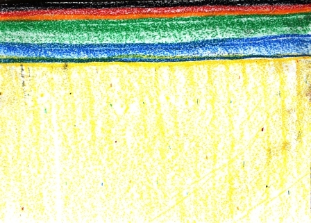 Art Therapy Session No. 2-'How we feel right now!' by Karen Robinson Materials-crayon on butcher paper August 7, 2014 photograph by Karen Robinson Images Copyright 2.JPG