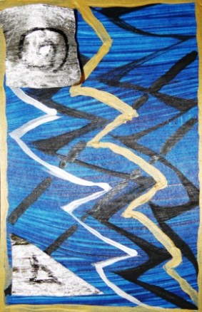2. ArtTherapy Group Session 7 'Our journey is at an end!' Painting by Abstract Artist Karen Robinson Sept 2014 NB All images are protected by copyright laws.JPG