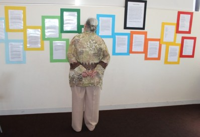 Creative Writing Pieces written by the group 2015 and displayed at the 'Reflections Carer Group Exhibition - Exploring Our Identities' at Northcote Townhall, Melbourne, Australia 18.11. 2015 Copyright protected.jpg
