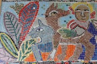 No. 22 of 70 images of MIRKA MORA'S FLINDERS ST STATION MURAL – Melbourne Australia Photographed by Karen Robinson 18th April 2015 NB All images are subject to copyright laws