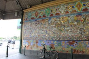 No. 3 of 70 images of MIRKA MORA'S FLINDERS ST STATION MURAL – Melbourne Australia Photographed by Karen Robinson 18th April 2015 NB All images are subject to copyright laws