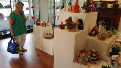 No. 16 of 101 'Teavotion' Group Exhibition of 100's of Teacosies at Bundoora Homestead Arts Centre March 2016 photographed by Karen Robinson
