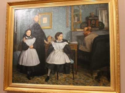 1 of 3 Family portrait also called The Bellelli famil 1862 oil on canvas 201.0 x 249.5cm - Edgar Degas - Musee d;Orsay, Paris. Photographed by Karen Robinson July 2016