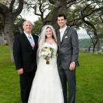 Austin Wedding Officiant and couple at Hacienda Del Lago