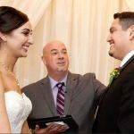 Austin officiant at wedding with couple