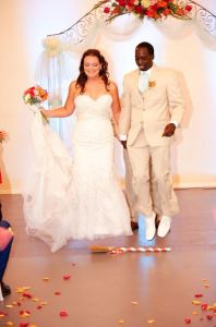 Jumping the Broom Unity Ceremony Austin Wedding Officiant