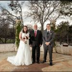 Creekside at Driftwood Austin wedding ceremony officiant and couple