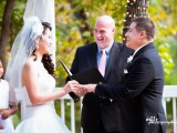 Wedding Vows couple and officiant