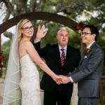 Wedding ceremony at Gabriel Springs Georgetown Texas
