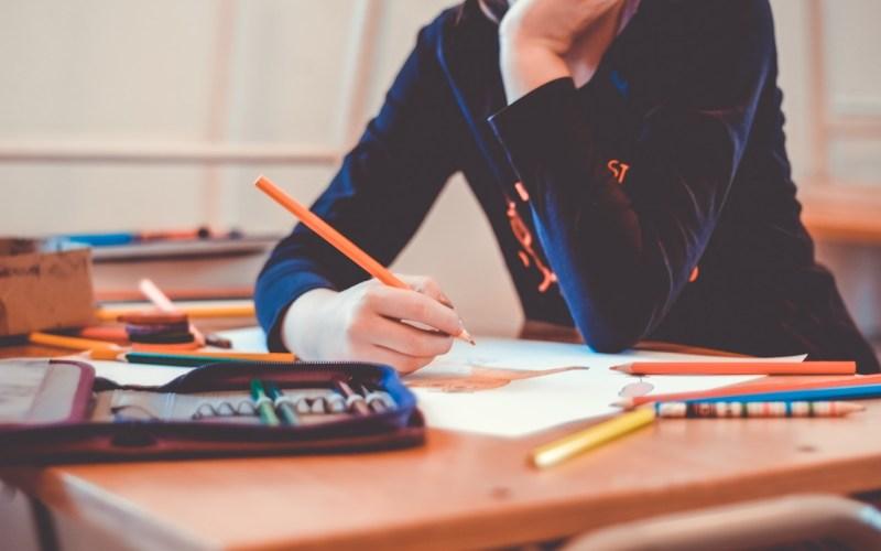 pessoa estudando em casa
