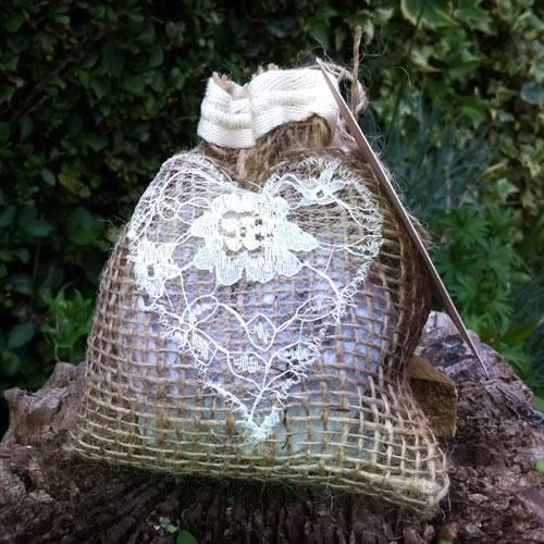 Hessian favour bag
