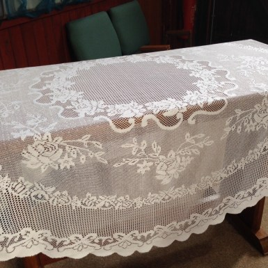 Lace table cloth, round or square - £5 each