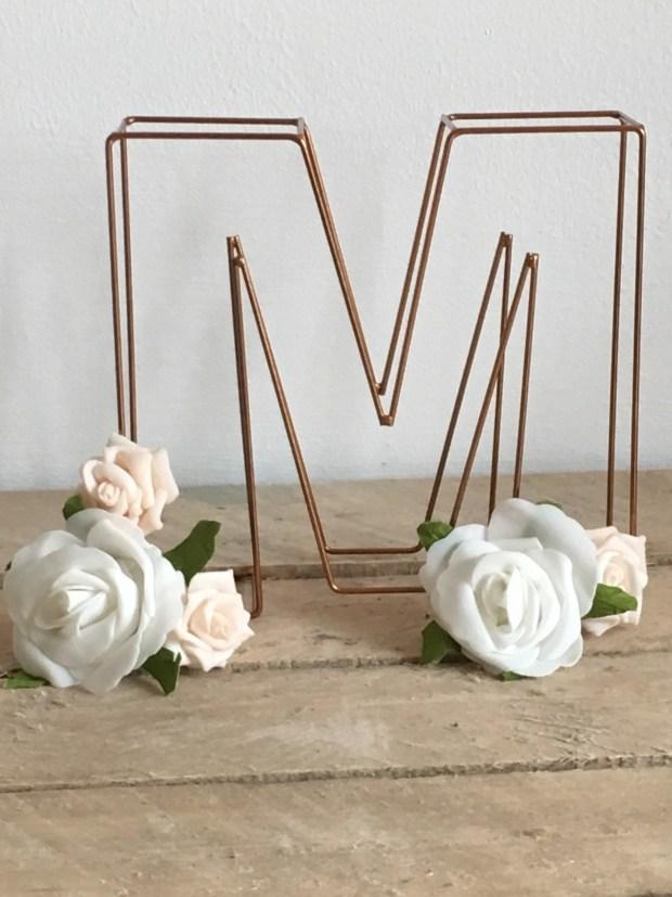 copper theme wedding