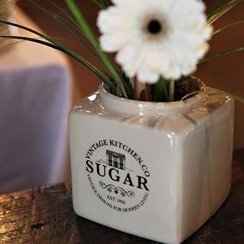 Tea, coffee, sugar jar