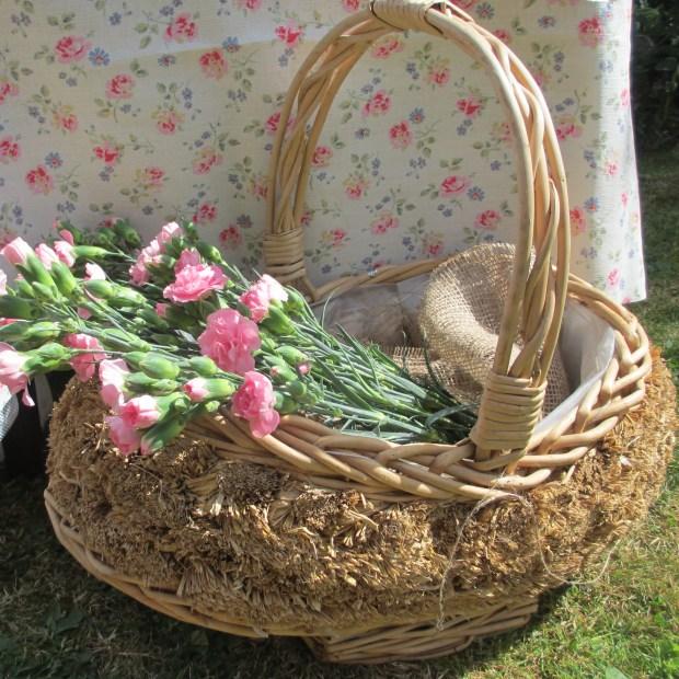 Rush cane basket