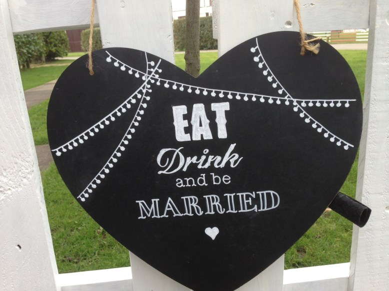 chalkboard navy wedding