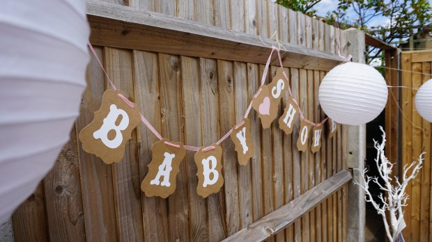 Baby shower bunting Baby shower decoration ideas