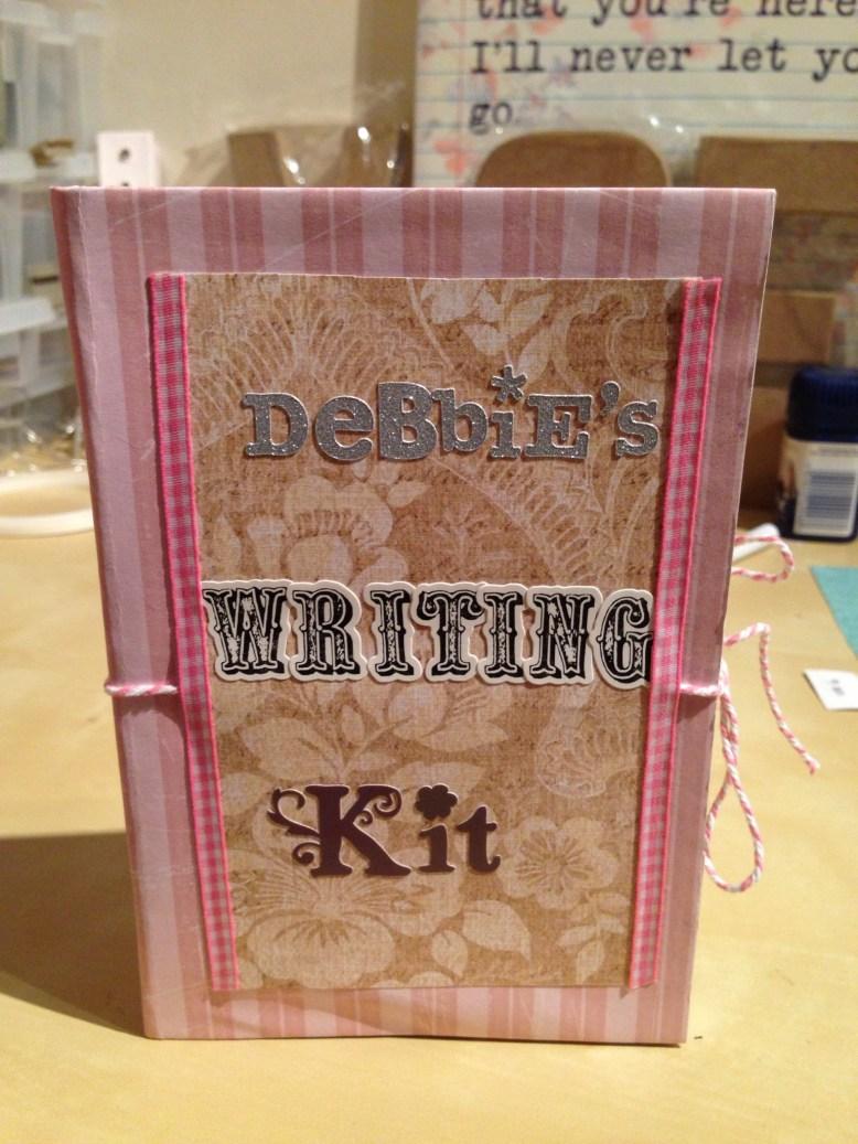 handmade gift idea writing kit