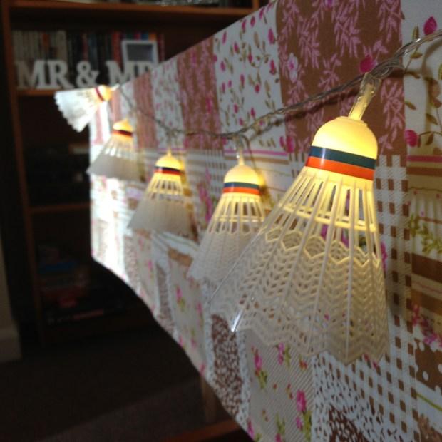 Shuttlecock fairy lights