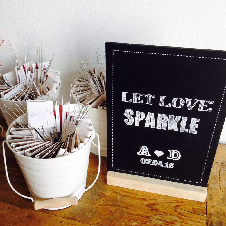 Personalised sparklers and matchbook handmade