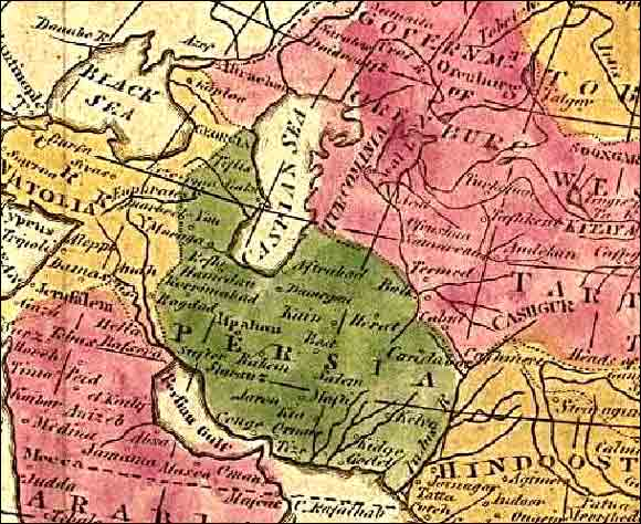 Map of Iran in 1808