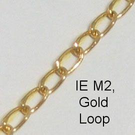 IE M2 - Metal (Loop) chain, Gold