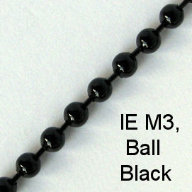 IE M3 - Metal (Ball) chain, Black