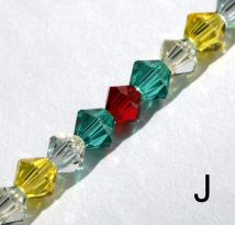 IE BE 6 - Genuine Swarovski bead chain, colour J