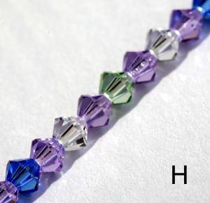 IE BE 6 - Genuine Swarovski bead chain, colour H