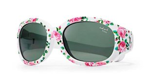 Tiny Tots I - IE5630, White frame baby girls sunglasses with rose print