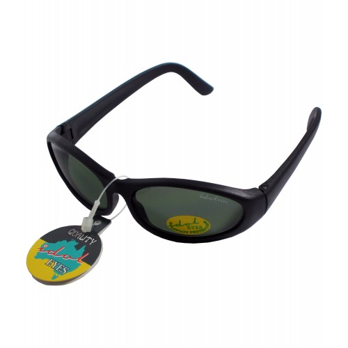 Tiny Tots II - IE88, Black frame traditional wraparound toddler sunglasses