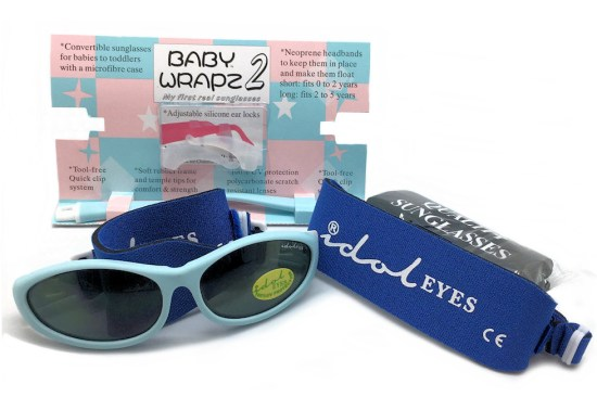 Idol Eyes - Baby Wrapz 2 sunglasses, Baby blue pack open