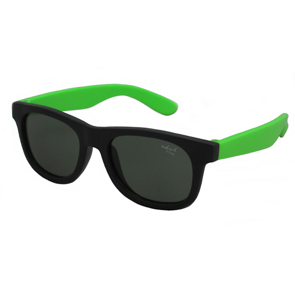 Tiny Tots II - IE1027MR, Black / green frame traditional toddler sunglasses