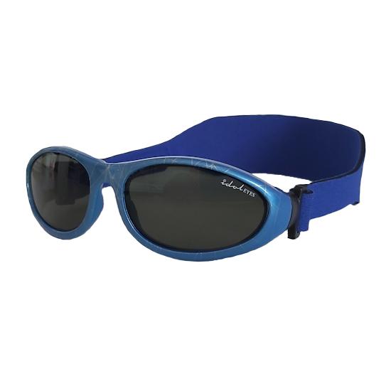 Baby Wrapz, Printed Blue frame with a headband
