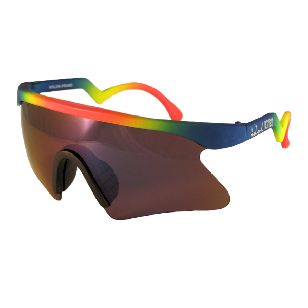 Kids I - IE 735SSX, Neon rainbow frame kids blade sunglasses