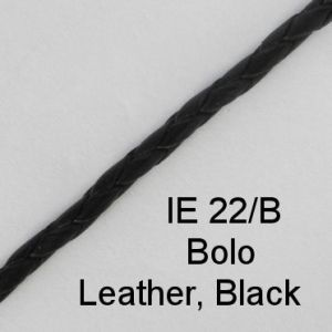 IE 22-B Bolo Leather Black spectacle cord
