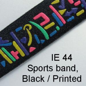 IE 44 Neoprene Sports Band - Black, Printed
