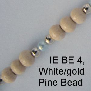 IE BE 4, White Pearl & Gold & Pine Bead spectacle chain