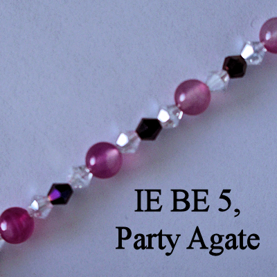 IE BE 5, Party Agate spectacle chain