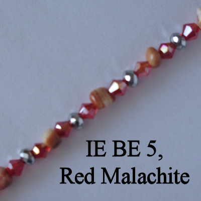 IE BE 5, Red Malachite spectacle chain