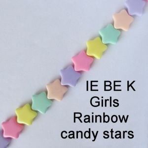 IE BE K Girls rainbow candy stars spectacle chain