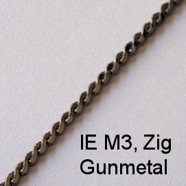 IE M3, (Zig) Gunmetal spectacle chain